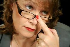 Femme d'affaires 3 en verre Photo stock