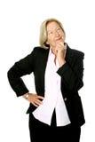 Femme d'affaires aînée irrésolue Images stock