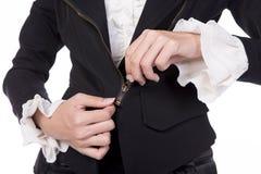 Femme d'affaires ajustant des tirettes Image libre de droits