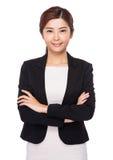 Femme d'affaires asiatique confiante Photographie stock libre de droits