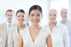 Femme d'affaires asiatique de sourire Photo libre de droits