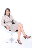 Femme d'affaires assise photos stock