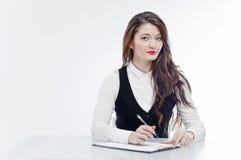 Femme d'affaires au bureau photo libre de droits