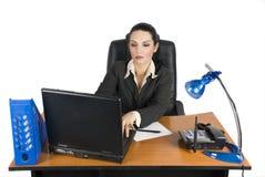 Femme d'affaires au bureau Image libre de droits