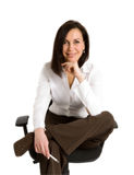 Femme d'affaires au bureau Images stock