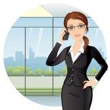 Femme d'affaires au bureau Photographie stock