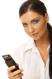 Femme d'affaires au téléphone Photo libre de droits