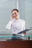 Femme d'affaires au travail Photographie stock