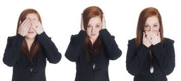 Femme d'affaires - aucun mal image stock