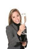 Femme d'affaires avec Champagne photographie stock