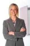 Femme d'affaires avec des bras croisés photos libres de droits