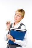 Femme d'affaires avec des documents Photos stock