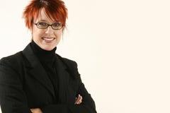 Femme d'affaires avec des glaces Images libres de droits