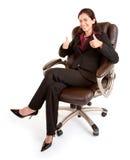 Femme d'affaires avec des pouces vers le haut image libre de droits