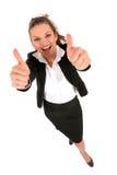 Femme d'affaires avec des pouces vers le haut Photo libre de droits
