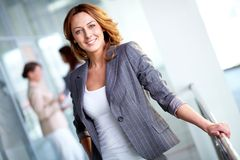 Femme d'affaires avec du charme Image stock