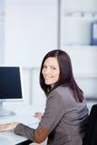 Femme d'affaires avec du charme Image libre de droits