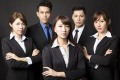 femme d'affaires avec l'équipe réussie d'affaires Image stock
