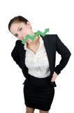 Femme d'affaires avec la flèche Photographie stock libre de droits