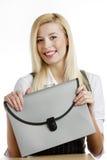 femme d'affaires avec la serviette Photographie stock libre de droits