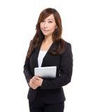 Femme d'affaires avec la tablette Photographie stock libre de droits