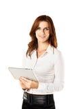 Femme d'affaires avec la tablette Images stock