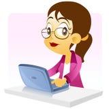 Femme d'affaires avec le cahier illustration stock