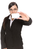 Femme d'affaires avec le drapeau Photos libres de droits