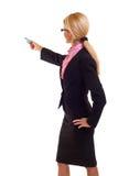 Femme d'affaires avec le repère image libre de droits