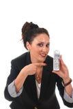 Femme d'affaires avec le téléphone Image stock