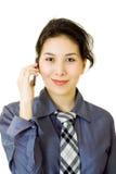 Femme d'affaires avec le téléphone de cellulr photos libres de droits