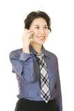 Femme d'affaires avec le téléphone mobile photo stock