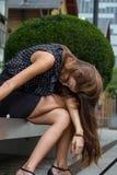 Femme d'affaires avec un burn-out Photographie stock