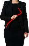 Femme d'affaires avec un pied-de-biche Image libre de droits