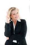 Femme d'affaires ayant une idée Photographie stock libre de droits