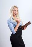 Femme d'affaires blonde attirante photos libres de droits