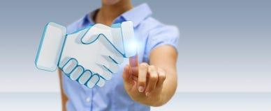 Femme d'affaires concluant un rendu de l'association 3D Image libre de droits