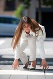 Femme d'affaires concurrentielle Photographie stock libre de droits
