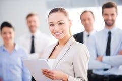 Femme d'affaires confiante Photo stock