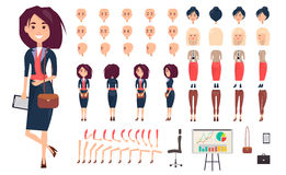 Femme d'affaires Constructor Isolated Illustration Photo stock