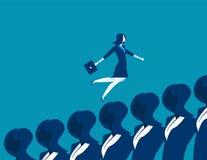 Femme d'affaires courant  Illustration d'affaires de concept Vecteur Photographie stock libre de droits