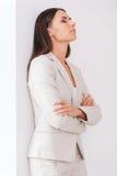 Femme d'affaires déprimée Image stock