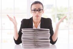 Femme d'affaires désespérée Photos stock