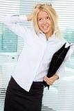 Femme d'affaires désordonnée Photographie stock libre de droits