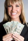 Femme d'affaires d'argent photo stock