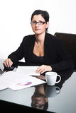 Femme d'affaires - d'isolement photo stock