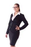 Femme d'affaires d'isolement Photographie stock libre de droits