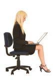 Femme d'affaires dans #133 noir photos stock