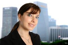 Femme d'affaires dans la ville Image libre de droits