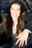 Femme d'affaires dans la voiture de sport Photos libres de droits